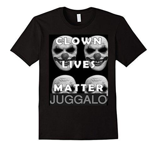 Mens Clown Lives Matter T Shirt Large Black -