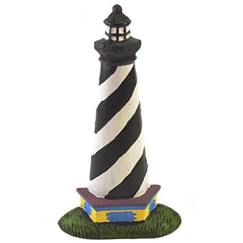 (Cast Iron Doorstop Door Wedge Stop Black & White Lighthouse 10.25