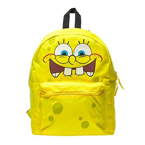 Bob Esponja Bob Esponja Nickelodeon TV Cartoon Reversible escuela mochila Bookbag