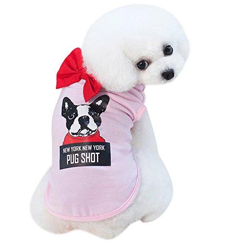 Gogoodgo Dog Clothes Pet Shirt Summer Costume Tee Shirts for Dogs