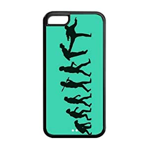 5C Phone Cases, Human Evolution Hard TPU Rubber Cover Case for iPhone 5C