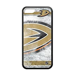 Generic Custom Phone case for Iphone 5C NHL Anaheim Ducks Sign Pattern
