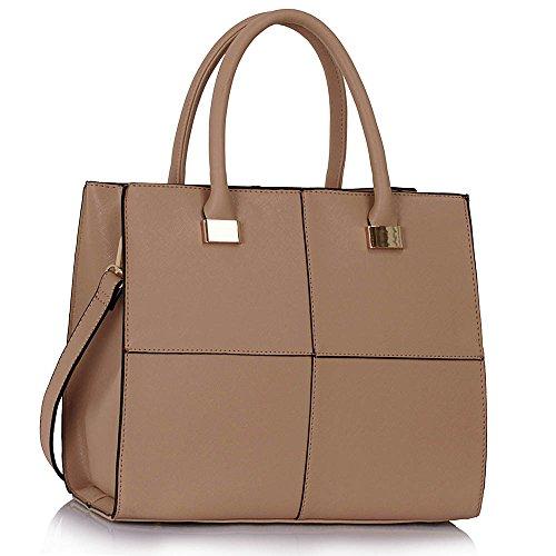 CWS00153L Designer Handbags Fashion Ladies LeahWard NUDE Quality Chic Women's Tote Bags 6azwxwqP1