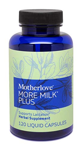 Motherlove-More Milk Plus, Fast-Acting Herbal Breastfeeding Supplement for Nursing & Pumping Moms' Milk Supply, Potent Lactation Support, Alcohol-Free Vegan Liquid Capsules with Organic Herbs, 120 ct.
