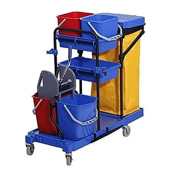 Chiner - Carro de Limpieza Multifunción HELENA. Carro de limpieza profesional COMPLETO con doble cubo