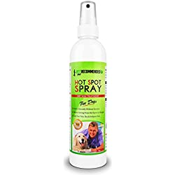 Vet Recommended Hot Spot Treatment For Dogs - All Natural Anti-Itch Anti-Fungal Spray for Dogs Dry Skin, Allergies Relief - Made in USA by 8oz/240ml