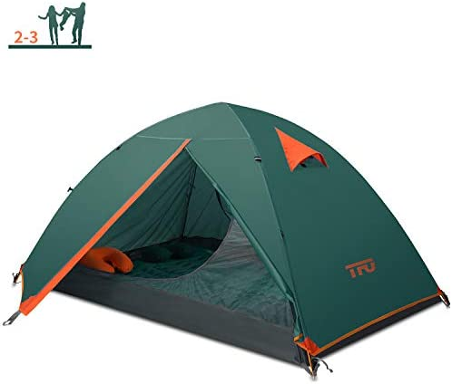 TFO Outdoor Camping Tent 2-3 Person Lightweight Waterproof Instant Family Backpacking Expedition Tents with Carry Bag