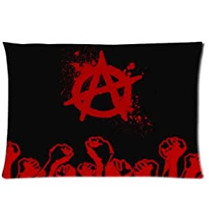 Anarchist Symbol With Red Fists Design Anarchy Pillowcase,Twin Sides Pillowcase Pillow Cover 20x30 inches