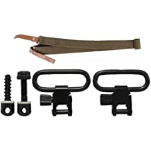 """Ultimate Arms Gear Two QD 1"""" Inch Screw and Nut for Forend and Wood Screws for Buttstocks + Traditional Canvas Sling, OD Olive Drab Green Springfield M1A, M1-A Garand/Carbine, Socom Rifle"""