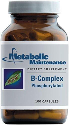 Metabolic Maintenance B-Complex Phosphorylated, with Methyl B12 and Methylfolate (5-MTHF), 100 Capsules