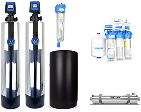 WECO COMP-1252 Complete Whole House City Water Treatment System with Water Softener, Conditioner, UV Disinfection System Drinking Water RO System COMP-1252