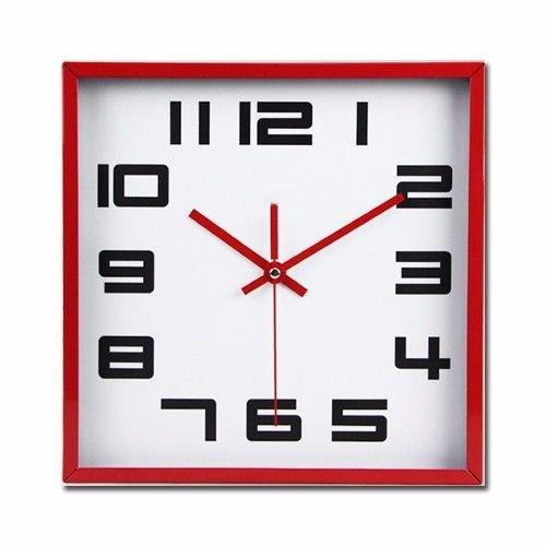 オフィスのための寝室のためのリビングルームのための静かな壁時計、赤い国境 B07DVZP8HR 赤い国境 赤い国境