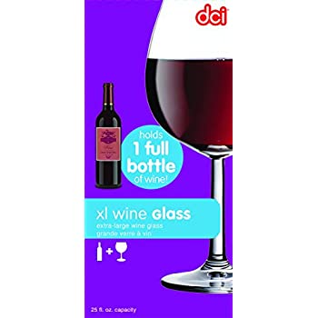 DCI Giant Wine Glas, Extra Large, 750ml Capacity, Clear, Holds an Entire Bottle of Wine