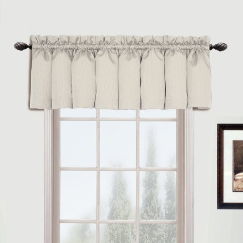United Curtain Metro Woven Straight Valance, 54 by 16-Inch,