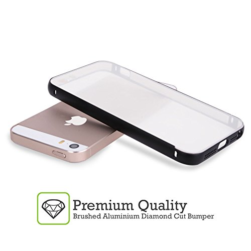 Officiel Graham Bradshaw Juste Jane Illustrations Noir Étui Coque Aluminium Bumper Slider pour Apple iPhone 5 / 5s / SE