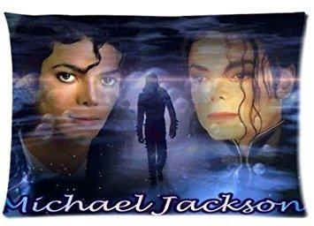 ABCHomes Famous Singer Dancer Michael Jackson Pillowcase Zippered Pillow Case 20x30 Cotton Standard Size(Twin sides)