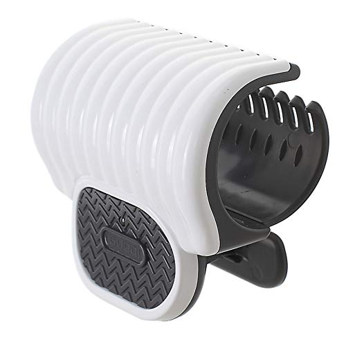iBang Portable Instant Heat Hot Roller Clip - Natural Wave Hair Bang Curler for Travel Work Home (Milk White)