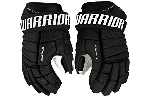 Warrior Senior Alpha Qi Gloves, Size 15, Black (Senior Pro Hockey Gloves)