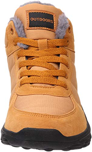 brown Boots 1 Snow Winter Lined BRONAX Fur Women C6qwc4T