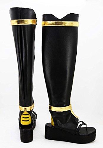 Telacos Touken Gioco Online Ranbu Tsurumaru Kuninaga Scarpe Cosplay Stivali Su Misura Nero