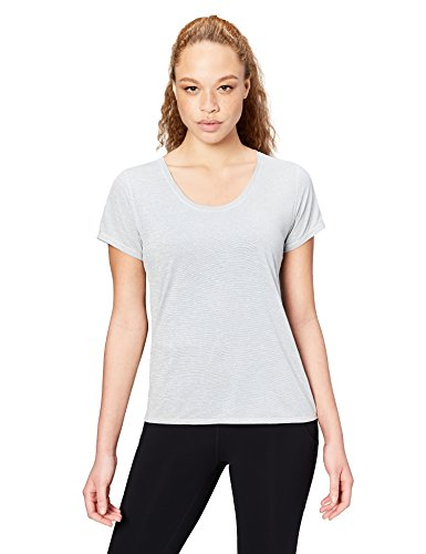 Amazon Brand - Core 10 Women's 'Lighter Than Air' Performance T-Shirt (XS-XL, Plus Size 1X-3X), Light Grey Heather, Large
