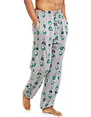 Minecraft Briefly Stated Men's 3D Cotton Lounge Pyjama Pants, Gray