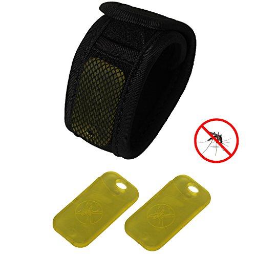 eJiasu mosquito repelente clip + anti-mosquito pulsera repelente de insectos para personas (1PC negro Anti-mosquito Wristband...