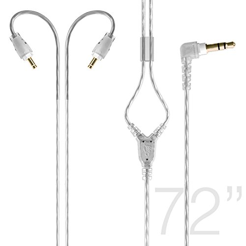 MEE audio M6 PRO Extended-length Stereo Audio Cable (72 in) (clear)