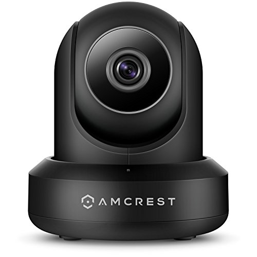 Amcrest WiFi Camera Indoor Pan Tilt Surveillance Wireless IP Camera, Home Video Security System with IR Night Vision, Two-Way Talk, Motion Detection for Nanny Cam, Pet and Baby Monitor IPM-721B Black