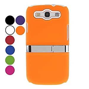 Light Surface Hard Case with Stand for Samsung Galaxy S3 I9300 (Assorted Colors) , White