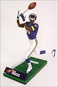 McFarlane Toys NFL Sports Picks Series 10 Action Figure Randy Moss (Minnesota Vikings) Purple Jersey by Sports Picks