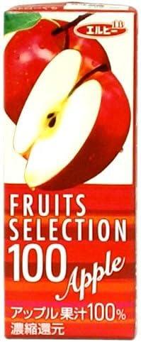 エルビー フルーツセレクション アップル100%ジュース 200ml 紙パック×12本