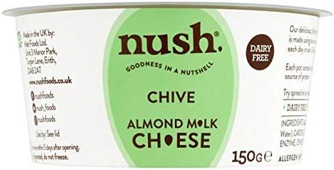 Nush Almond Milk Cream Cheese Style Spread Chive 150g: Amazon.co ...