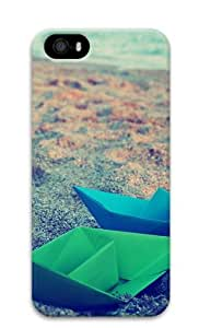 Paper Boats Origami Custom Design iPhone 5S/5 Protective Case Cover - Polycarbonate
