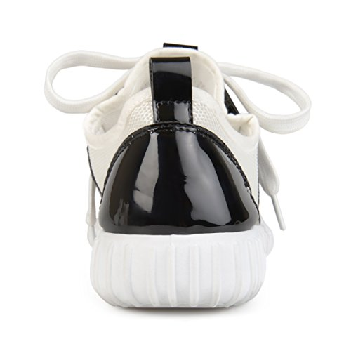 Journee Collection Womens Breathable Lightweight Metallic Sneakers Black ZeIpz