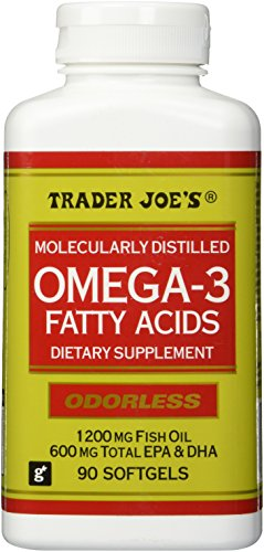 Trader joe 39 s omega 3 fatty acids 1200mg fish oil for Odorless fish oil