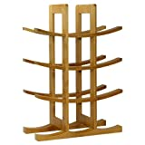 Oceanstar WR1149 12-Bottle Natural Bamboo Wine Rack