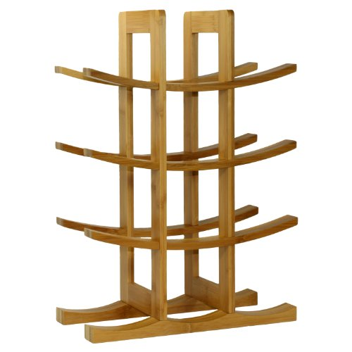 Oceanstar WR1149 12-Bottle Natural Bamboo Wine Rack ()