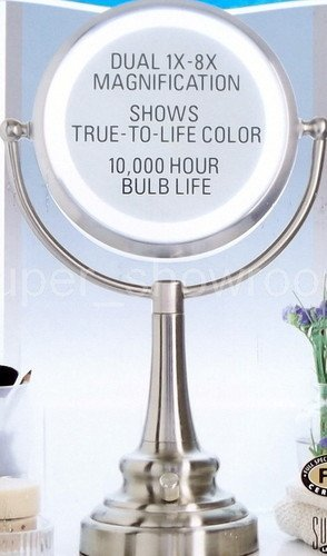Amazon new natural daylight lighted magnifying vanity mirror new natural daylight lighted magnifying vanity mirror dual 1x 8x magnification aloadofball Choice Image