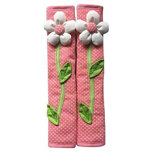 (Household Gloves - 2pcs Pastoral Flower Polka Dot Door Refrigerator Handle Cover Fridge Gloves Home Decor - Large Extra Household Gloves Heavy Free Duty Disposable Women Long Latex Friendly Sm)