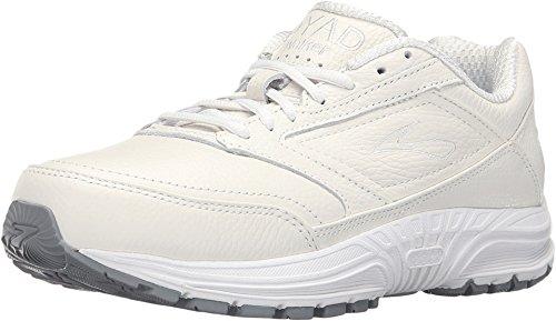 Brooks Women's Dyad Walker White Sneaker 7 D - Wide