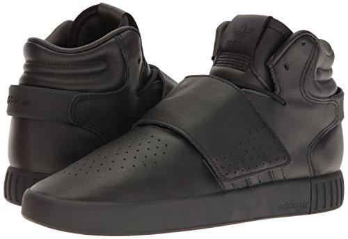 adidas Originals Men's Tubular Invader Strap Running Shoe, White,