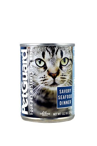 Pet Guard Savory Seafood Dinner, Food for Cats, 13.2-Ounce Cans (Pack of 12)
