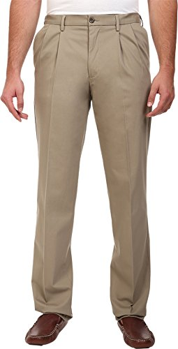 d Tall Signature Khaki Pleated Pant, Timberwolf (Stretch), 46W x 30L ()