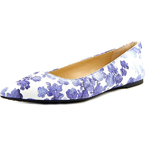 Patent Leather Michael Coat Kors (MICHAEL Michael Kors Arianna Flat Blue Printed Canvas Floral Flat 7)