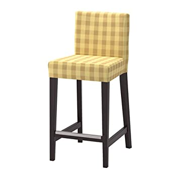 Awe Inspiring Amazon Com Ikea Bar Stool With Backrest Brown Black Machost Co Dining Chair Design Ideas Machostcouk