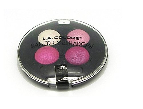 L.A. Colors Baked Eye Shadow Palette Quad 425 Stellar