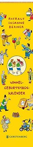 Wimmel-Geburtstagskalender: Immerwährender Wandkalender monatlich