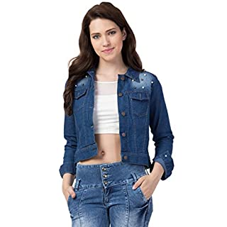41F59g9XdyL. SS320 FUNDAY FASHION Self Design Stone Women Denim Jacket…