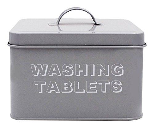 Lesser & Pavey Sweet Home Washing Tablet Box, Metal, Grey, 18 x 15 x 12 cm ()